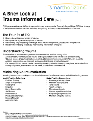 Trauma Informed Care part 1